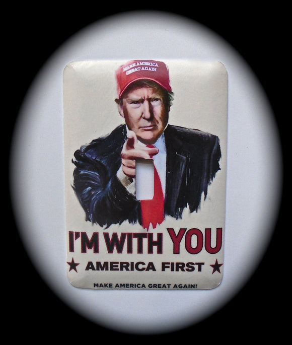 Metal Single Toggle Switch Plate Cover ~ Donald Trump, US President - Just Switch It 2
