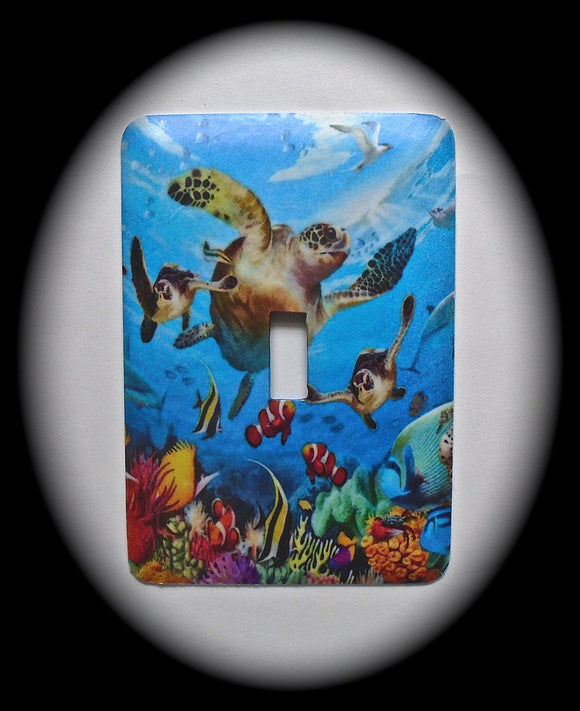 Single Switch Plate ~ Sea Turtle