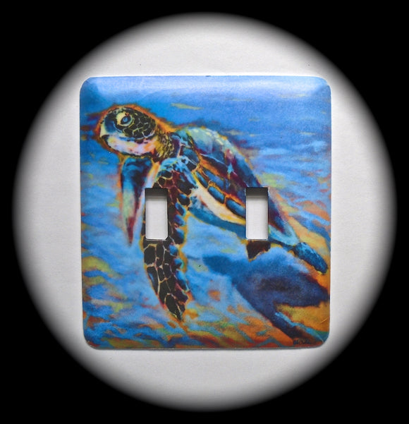 Double Switch Plate ~ Sea Turtle