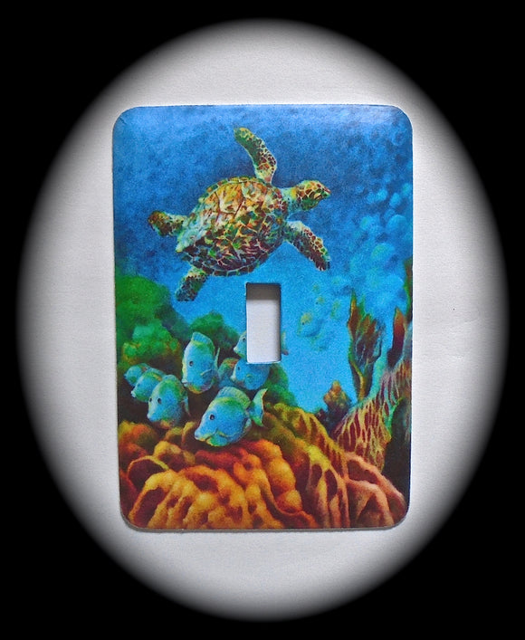Single Switch Plate ~ Turtle