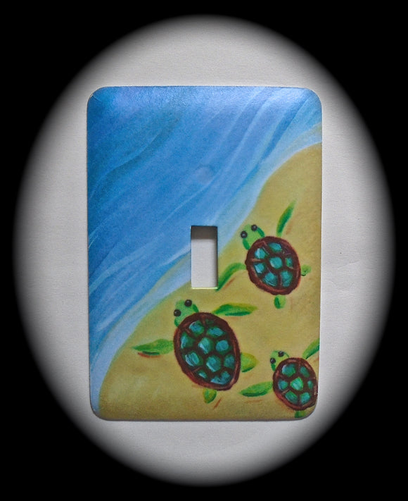 Single Switch Plate ~ Turtles