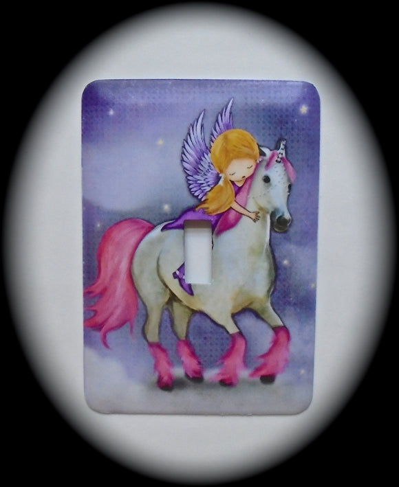 Single Switch Plate ~ Unicorn