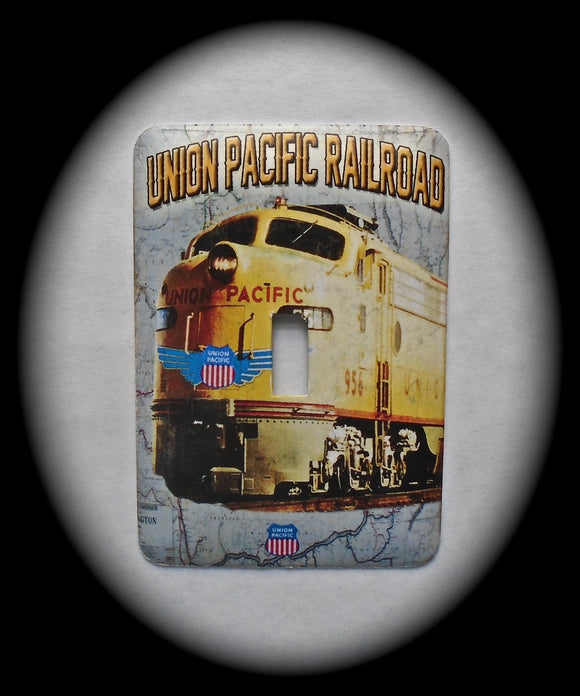 Metal Single Toggle Switch Plate Cover ~ Train, Union Pacific Railroad - Just Switch It 2