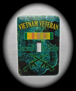 Metal Single Toggle Switch Plate Cover ~ Vietnam Veterans - Just Switch It 2