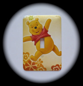 Metal Single Toggle Switch Plate Cover ~ Honey Bear Character - Just Switch It 2