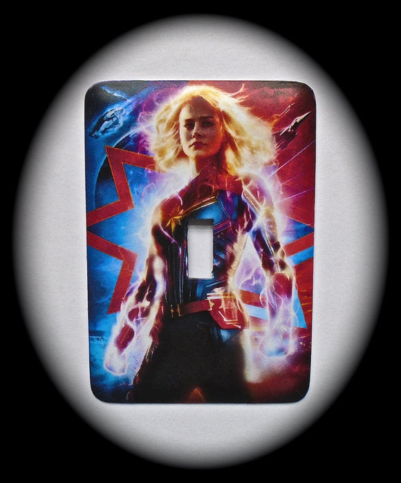 Metal Single Toggle Switch Plate Cover ~ Superhero - Just Switch It 2