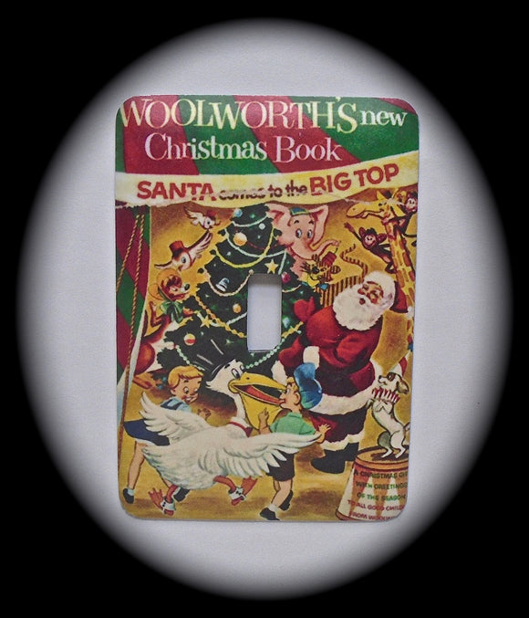Single Switch Plate ~ Woolworths Christmas Book
