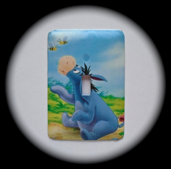 Metal Single Toggle Switch Plate Cover ~  Cartoon Donkey - Just Switch It 2