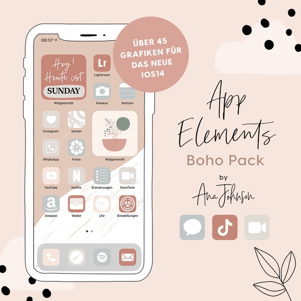 BOHO App Elements by AnaJohnson