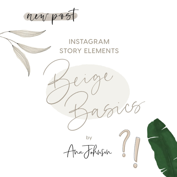 Story Elements - BEIGE BASICS ELEMENTS