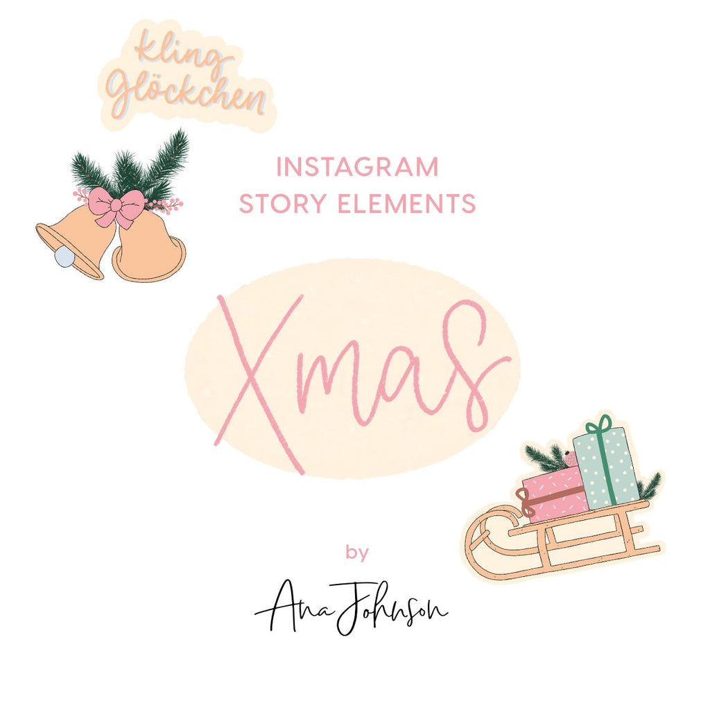 Instagram Story Elements - CHRISTMAS ELEMENTS