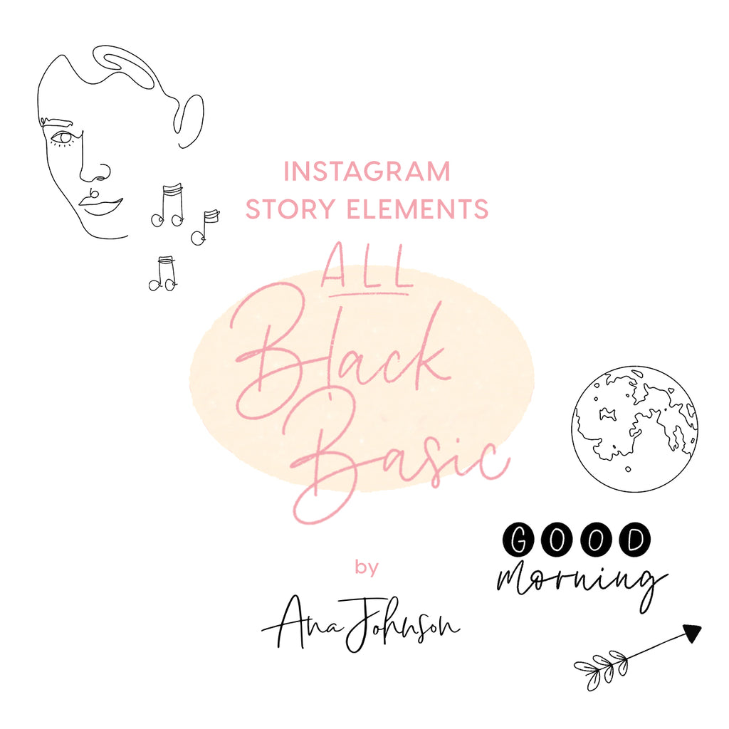 Story Elements - ALL BLACK BASIC ELEMENTS