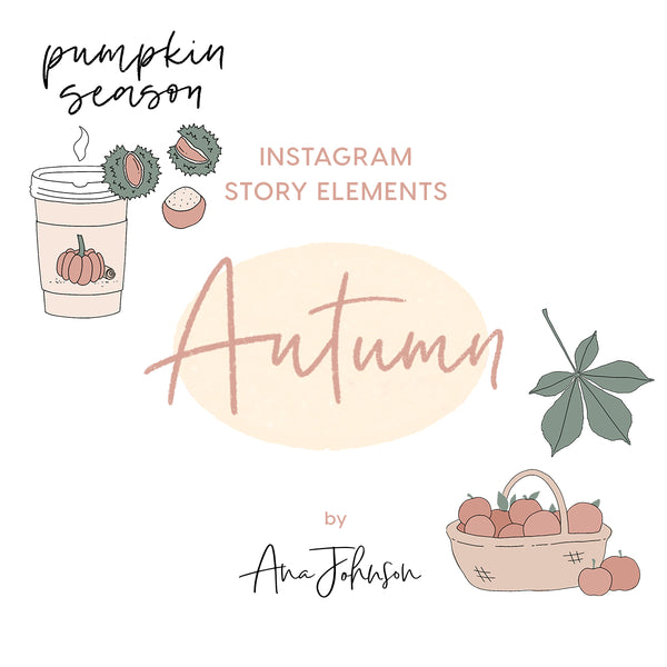 Instagram Story Elements - AUTUMN ELEMENTS