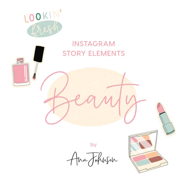 Instagram Story Elements - BEAUTY ELEMENTS