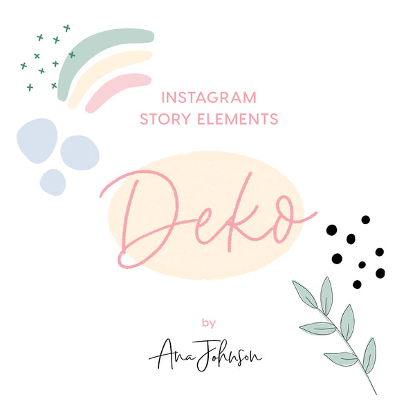 Instagram Story Elements - DEKO ELEMENTS