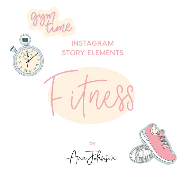 Instagram Story Elements - FITNESS ELEMENTS