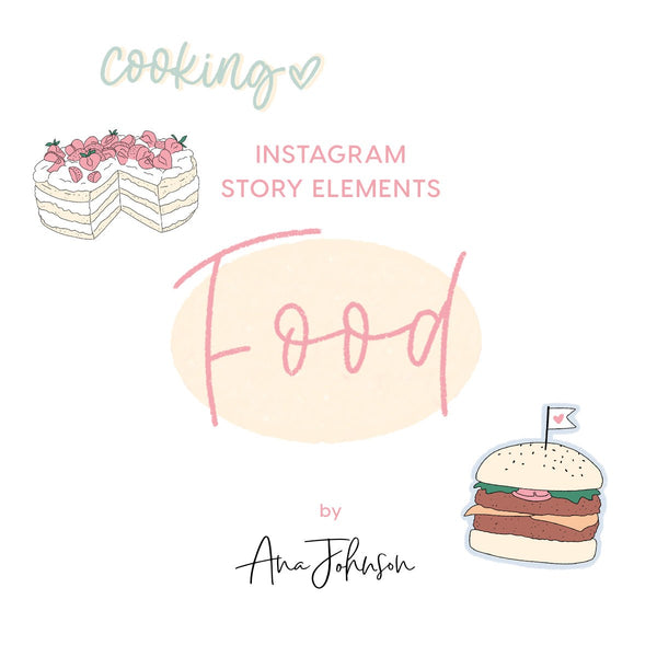 Instagram Story Elements - FOOD ELEMENTS