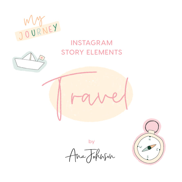 Instagram Story Elements - TRAVEL ELEMENTS