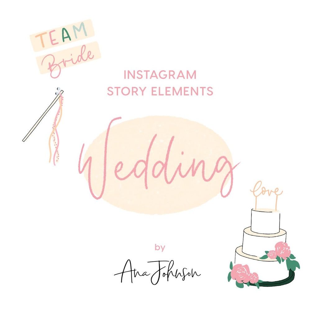 Instagram Story Elements - WEDDING ELEMENTS