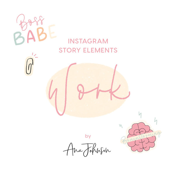 Instagram Story Elements - WORK ELEMENTS