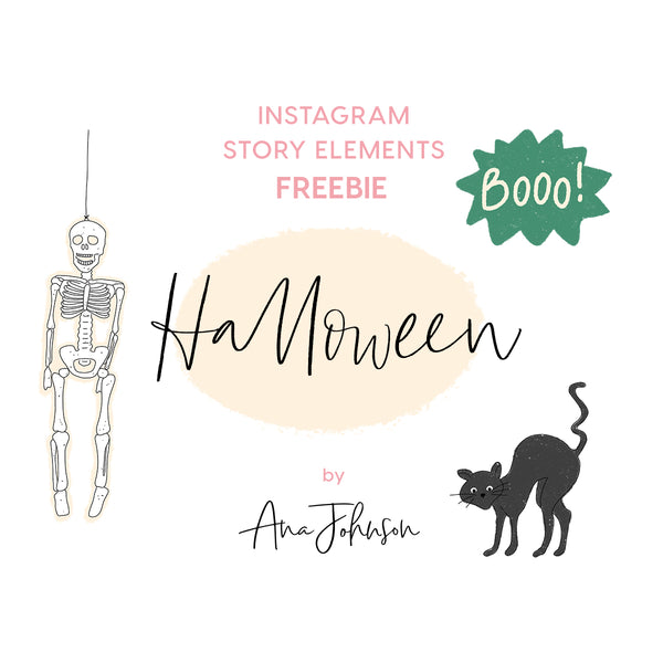 Instagram Story Elements - HALLOWEEN SPECIAL ELEMENTS