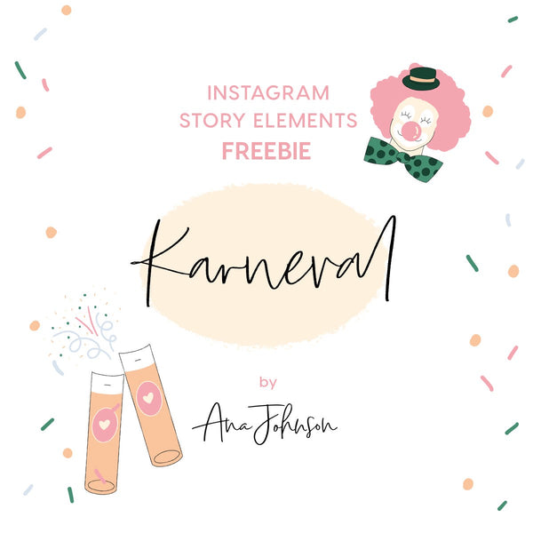 Instagram Story Elements - KARNEVAL SPECIAL ELEMENTS