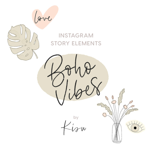 Instagram Story Elements - BOHO VIBES by Kisu