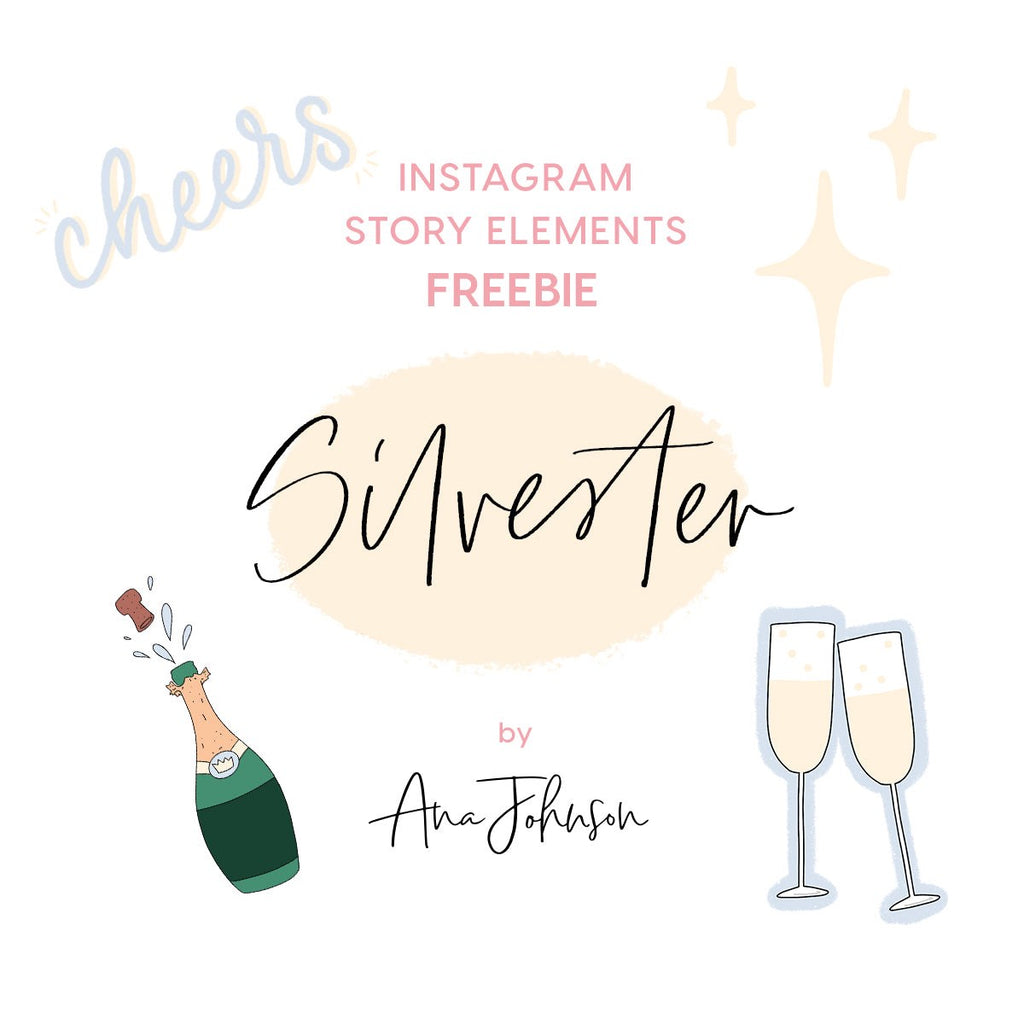 Instagram Story Elements - SILVESTER SPECIAL ELEMENTS