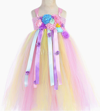 Load image into Gallery viewer, Rainbow Unicorn Dresses Baby Girls Princess