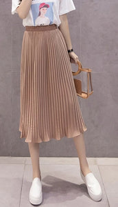 Pleated Chiffon Skirt Comfortable To Wear