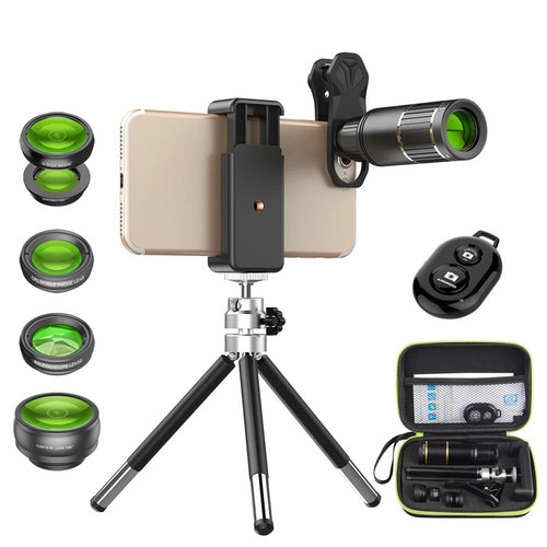 Telephoto lens with tripod+ 5in1