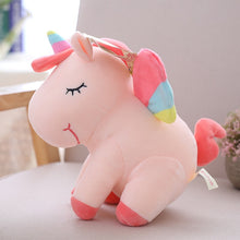 Load image into Gallery viewer, Unicorn  plush toy pink fly horse with rainbow