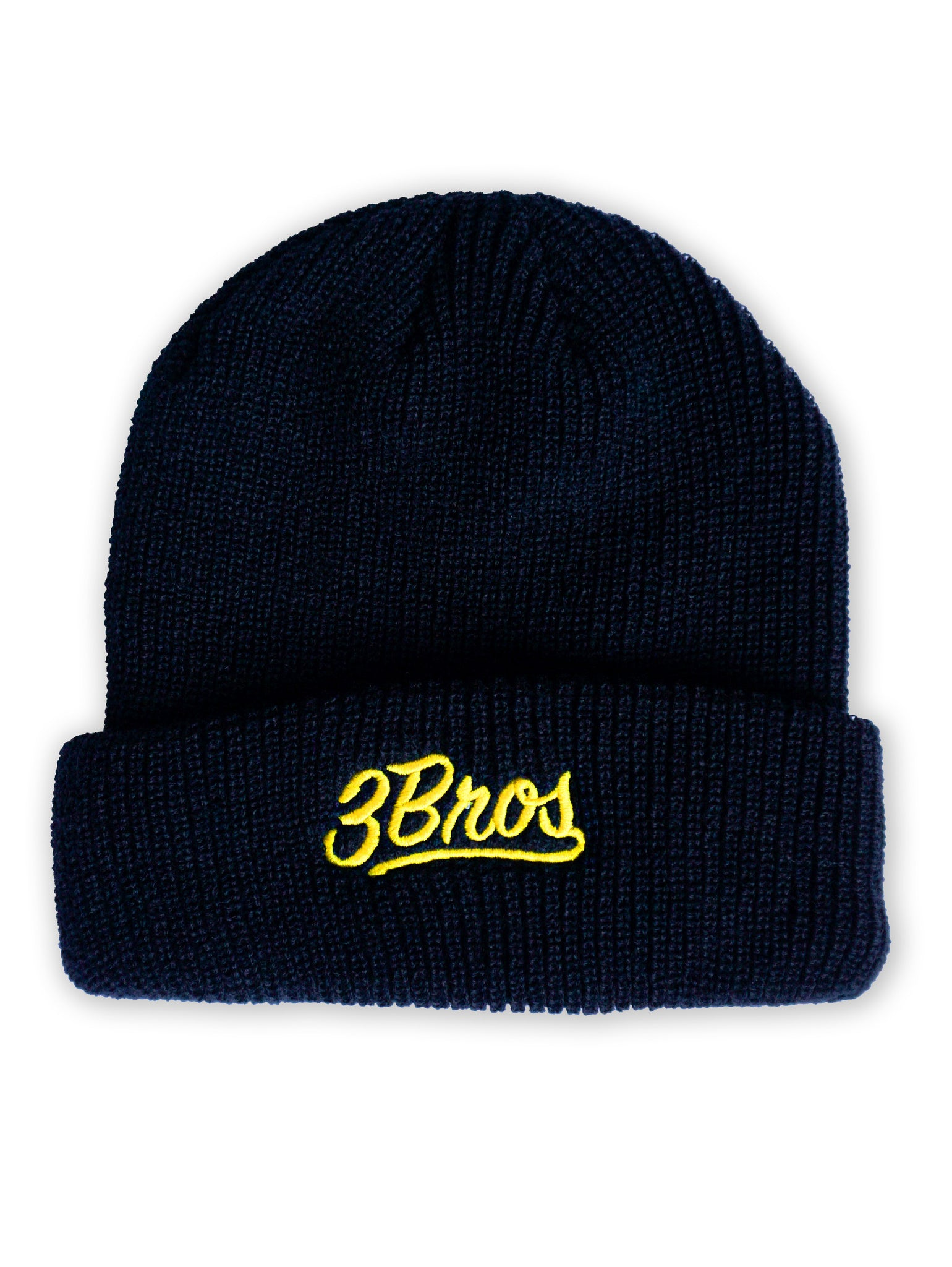 BLACK BEANIE / YELLOW LOGO