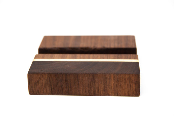 Phone or Tablet Docking Station - Walnut with Maple Accents