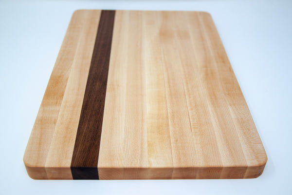 Side Grain Board in Maple with Walnut Accent