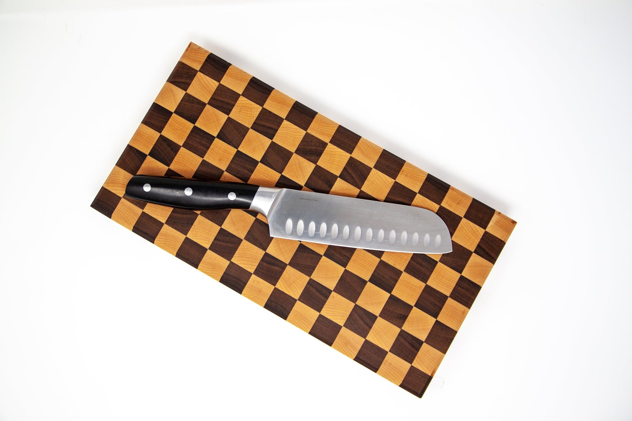 End Grain Checkered Cutting Board - Walnut & Maple