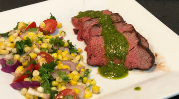 Coffee Rubbed Tri-Tip with Tequila Chimichurri