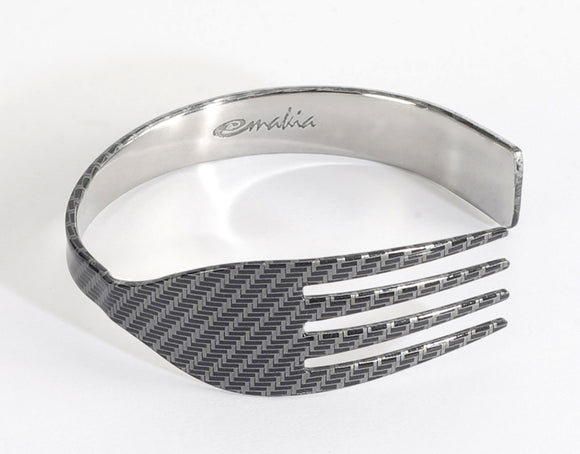 NAPKIN RINGS - CARBON FIBER - Pack of 4