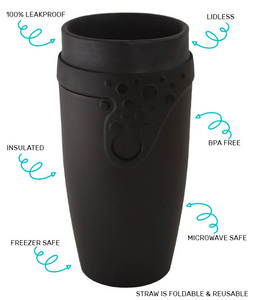 Reusable TWIZZ Travel Cup | Black | 350mL | Karl
