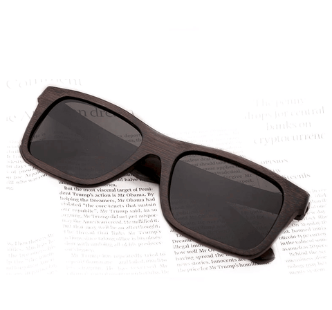 Image of Handmade Bamboo Sunglasses for Men UV400 Polarized Lens