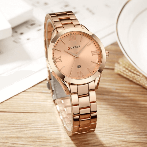 Watches for Women Glamor Bracelet Stainless Steel Buckle - Free Item