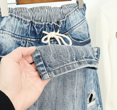 Image of Jeans for Women Worn Loose Fit High Waist Plus Size