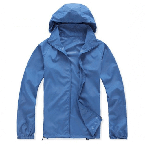 Men or Women Quick-Dry Waterproof SPF Rain Jacket