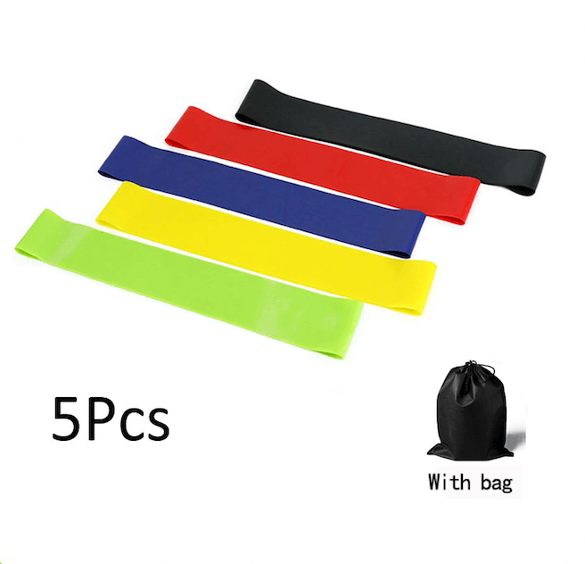 5Pc Yoga Resistance Rubber Loop Fitness Band