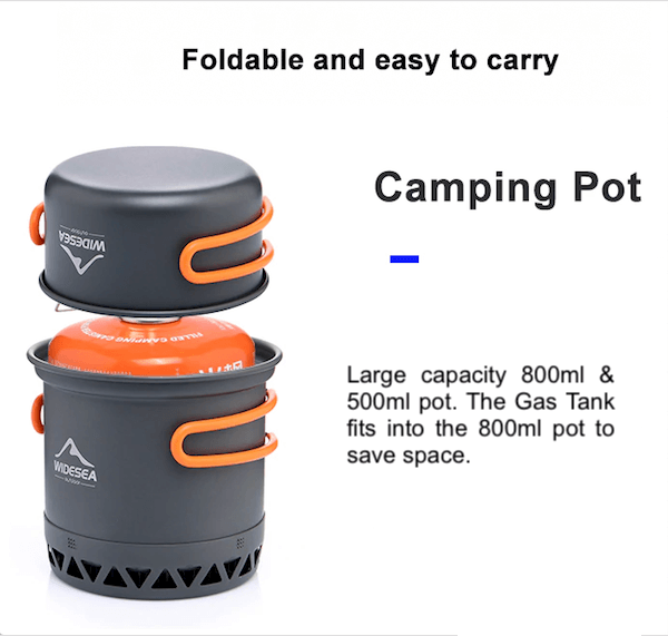 Backpacking Camping Travel Tableware Cookware Pot Set