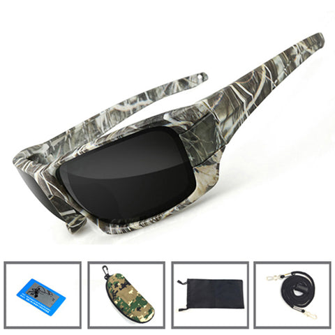 Camouflage Fishing Polarized Sunglasses UV Sport Camping Eyewear