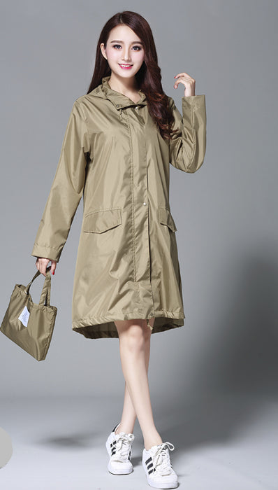 Women Stylish Rain Poncho With Hood Colors M L Plus