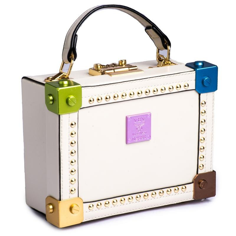 Hamlyn Grande White Colored Party Handbag For Women