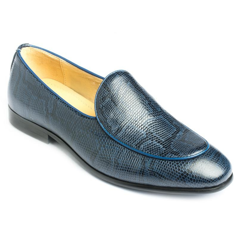 Hamlyn Grande Genuine Leather Made Blue Colored Casual And Party Shoe For Men