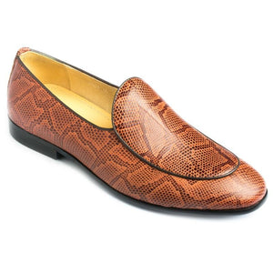 Hamlyn Grande Genuine Leather Made Brown Colored Casual And Party Shoe For Men